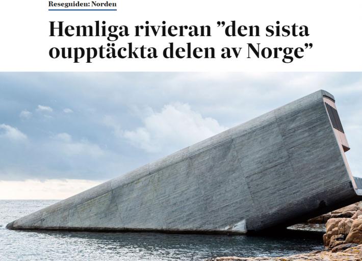 """Svenska Dagbladet - Hemliga rivieran """"den sista oupptäckta delen av Norge"""""""