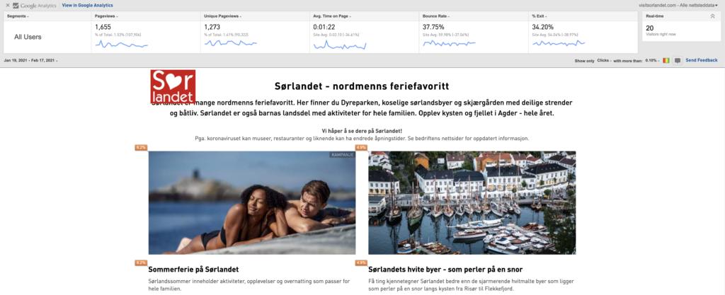 Screenshot fra visitsorlandet.com