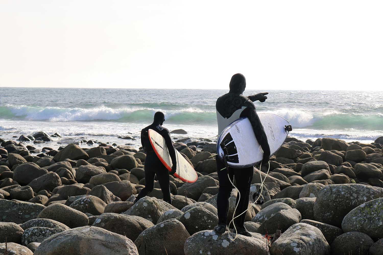 Surfing på Sørlandet